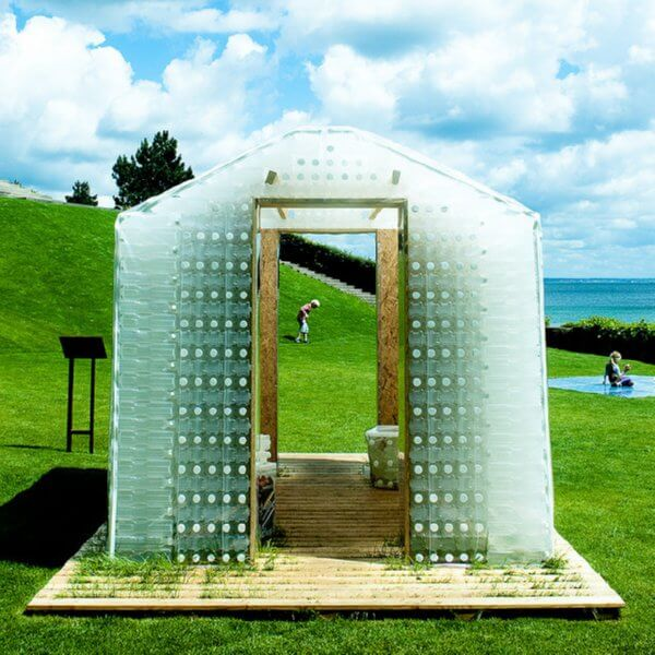 plastic bottle shed