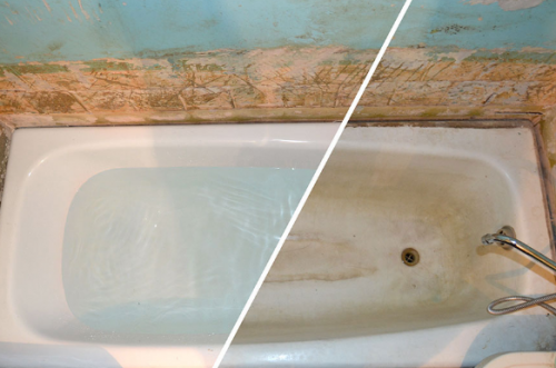 Repair of cast iron baths with their own hands
